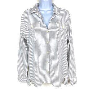 PATAGONIA Organic Cotton & Hemp Roll Tab Shirt L